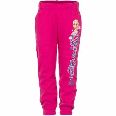 Fuchsia frozen trainingsbroek elsa