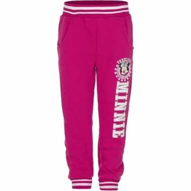 Fuchsia minnie mouse trainingsbroek
