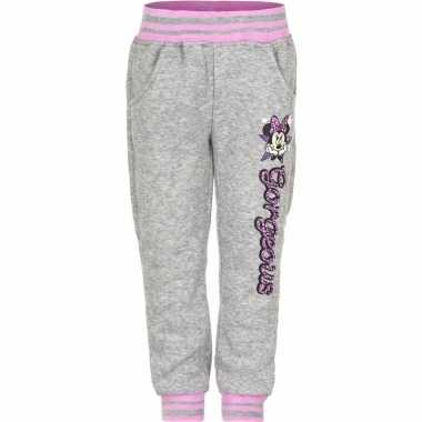 Grijze minnie mouse trainingsbroek