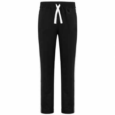 Trainingsbroek/trainingsbroek zwart met streep voor dames