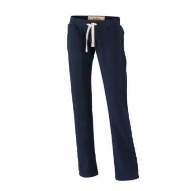 Vintage trainingsbroeken navy met zakken voor dames