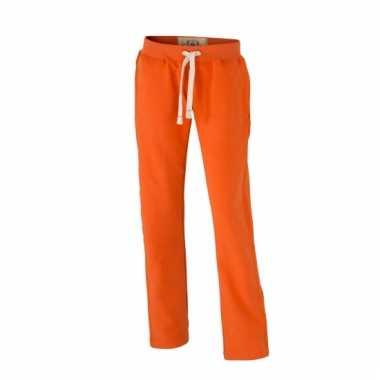 Vintage trainingsbroeken oranje met zakken voor dames