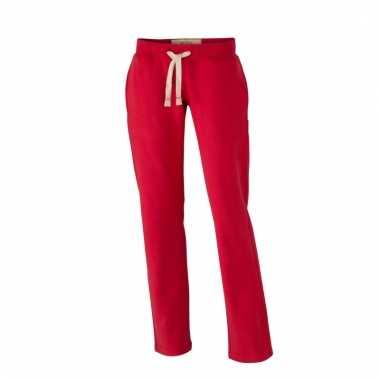 Vintage trainingsbroeken rood met zakken voor dames