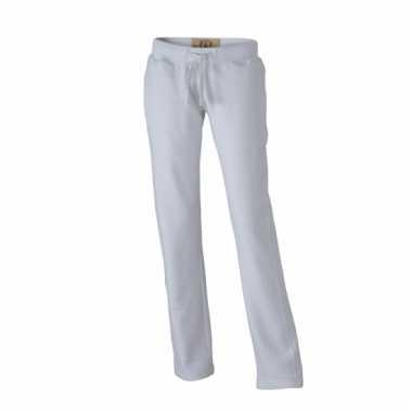 Vintage trainingsbroeken wit met zakken voor dames